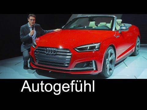 Audi S5 Cabriolet REVIEW Premiere new neu A5 Convertible 2017/2018 - Autogefühl