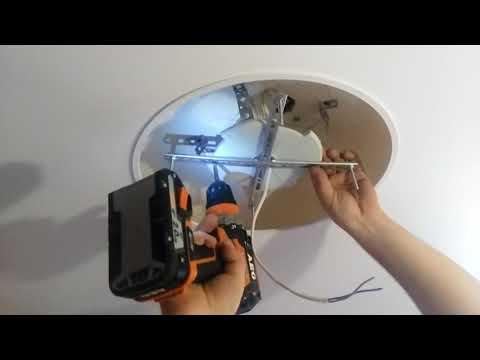 как утопитть люстру в натяжной потолок