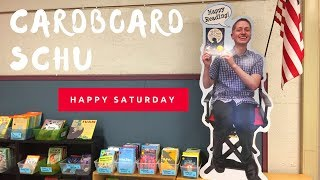 Happy Saturday: Cardboard Schu Invades The Classroom Library