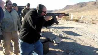 Andrew Shooting a Full Auto Draco conversion.