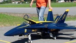 Blue Angels McDonnell Douglas FA-18 Hornet RC Model Jet JWM Meiringen