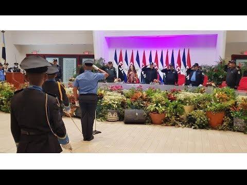 Presidente Daniel y compañera Rosario presiden graduación de cadetes de la Policía Nacional