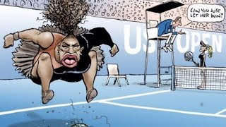 Artist defends 'racist' Serena Williams cartoon