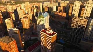 Drone flight Benidorm city