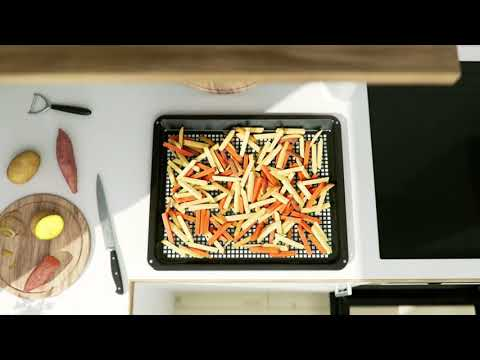 Zanussi Slot In Cooker Ceramic ZCV69360XA - Stainless Steel Video 2