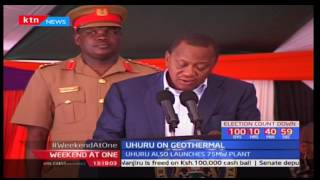 President Uhuru has launched fourteen wellhead units in Olkaria to boost geothermal power capacity