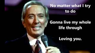 Can't Get Used to Losing You   ANDY WILLIAMS (with lyrics)