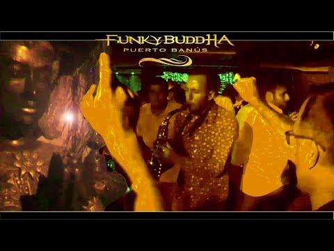 Puerto Banus Night Life  Saxophonist on Fire Club/Discoteca FUNKY BUDDHA [Marbella-Costa Del Sol]