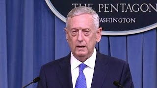 Sec. Mattis. Defense Department Briefing From the Pentagon. May 19, 2017. President Trump.