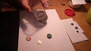 The lab of a coins` restorer
