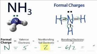 Calculating NH3 Formal Charges: Calculating Formal Charges for NH3 (Ammonia)