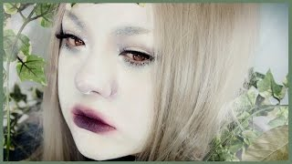 ☽ Dark FOREST FAIRY Makeup Tutorial ☾ 白塗りメイク [森の妖精メイク] ~ Shironuri Makeup #18