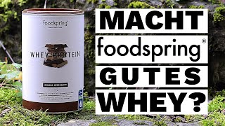 Foodspring's Whey Protein im Test | Fitness Food Corner