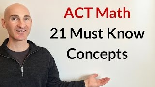 ACT Math 21 Must Know Concepts