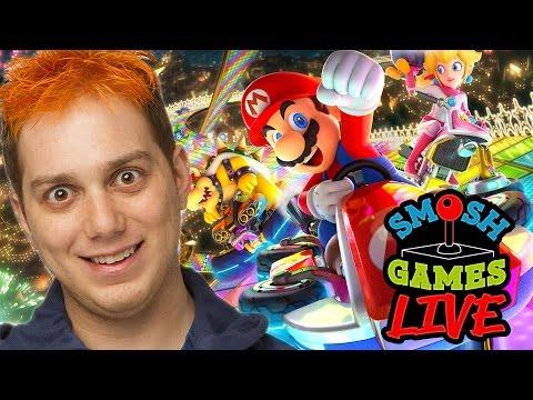 MARIO KART 8 DELUXE +  Q&A LIVE! (Smosh Games Live)