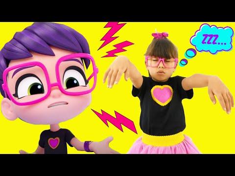 Abby Hatcher VS Rainbow Raingers Pretend Play The Sleepwalking. Kids funny videos