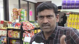 Vamsi  speaking to iAsiaNews at Sa Re Ga Ma grocery store in Irving,Texas.