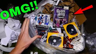 SO MANY FREE GAMES IN THE TRASH!! Dumpster Dive Gamestop Night #488