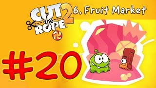 Cut The Rope 2 - Level 140 Fruit Market - All Medals Walkthrough