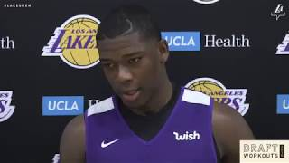 Angel Delgado habla en Español tras segundo workout con Lakers previo al Draft de la NBA