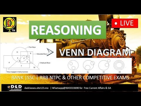 11 AM || REASONING || VENN DIAGRAM BY SIR NEERAJ || BANK SSC RRB NTPC