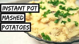 INSTANT POT MASHED POTATOES // No-Drain! // Vegan ✨