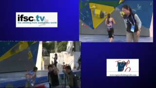 preview picture of video 'Climbing World Cup 2012 Boulder and Speed Chongqing, CHN - Boulder Women's and Men's Finals'