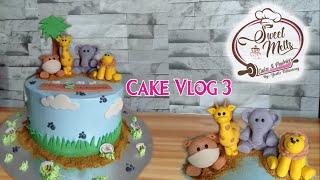 Cake Vlog   Daily Work Cake   Safari Cake   Animal Theme Cake