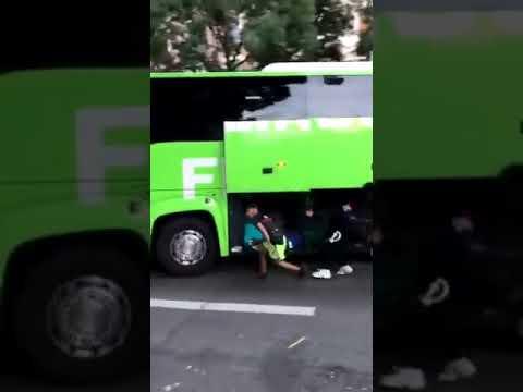 Воруют багаж из автобуса на ходу