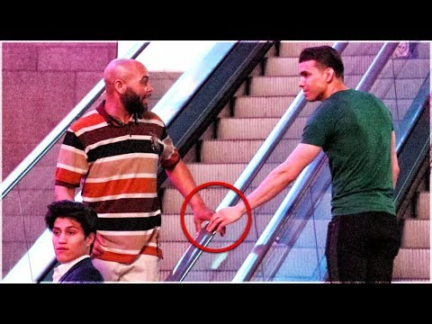 Touching Hands On Escalator Prank | Guy vs Girl Edition