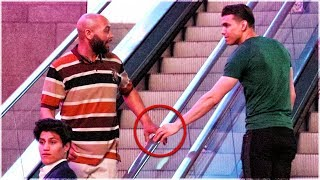 Touching Hands On Escalator Prank | Guy Vs Girl Edition