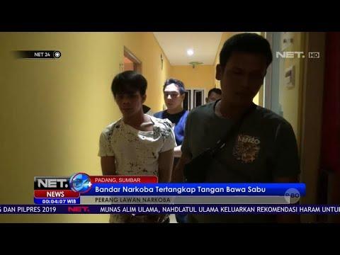Bandar Narkoba di Padang Tertangkap Tangan Membawa Sabu NET24