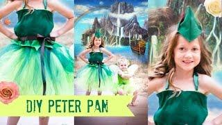 DIY PETER PAN Costume TUTU NO SEW!!!