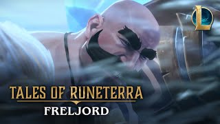 Can you defend the heart of the Freljord? Play now at https://playruneterra.com  While defending her tribe from a brutal attack, a young warmother entrusts Braum with the safety of her infant child, before turning to face Lissandra's Frostguard alone.  Cast: Braum, The Heart of the Freljord  VENTURE BEYOND THE HEART OF THE FRELJORD Play as Braum in Legends of Runeterra: https://playruneterra.com/en-us/ Find warmth in the icy realm of the Freljord: https://universe.leagueoflegends.com/en_US/region/freljord/ Discover the world of Runeterra: https://map.leagueoflegends.com/en_US