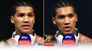 """""""GIVE ME AMIR KHAN NEXT!""""   Conor Benn reacts to his first round knockout victory over Samuel Vargas"""