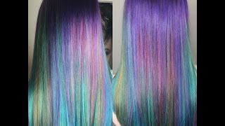 Mermaid Hair Tutorial / Rainbow Hair