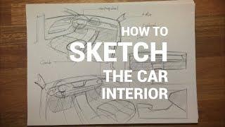 How To Sketch The Car Interior