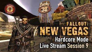 Fallout New Vegas - PC Modded Live Stream - Hardcore Mode - Session 9
