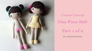 Crochet Amigurumi One Piece Doll Tutorial & Pattern (Part 1)