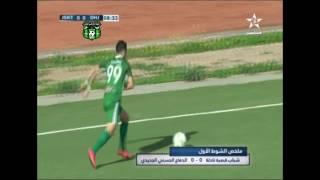ملخص مباراة الدفاع الحسني الجديدي ضد شباب قصبة تادلة