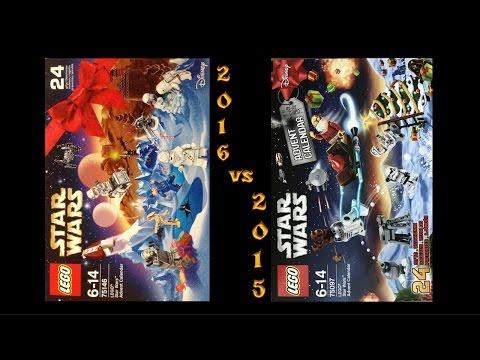 Lego Star Wars Adventskalender vergleich 2016 vs 2015! #Unboxing