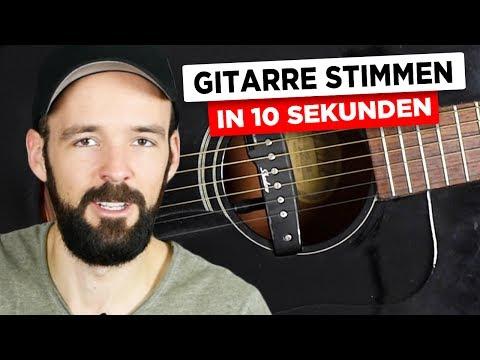 Gitarre stimmen in 10 Sekunden - Wie stimmt Hannes? - sehr EINFACH