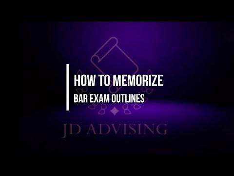 How to Memorize Bar Exam Outlines