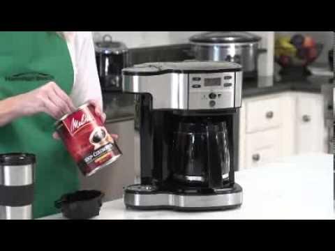 Hamilton Beach  coffee maker reviews : The 2 Way Brewer