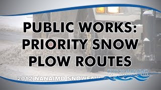Public Works: Snow Plow Priority Routes