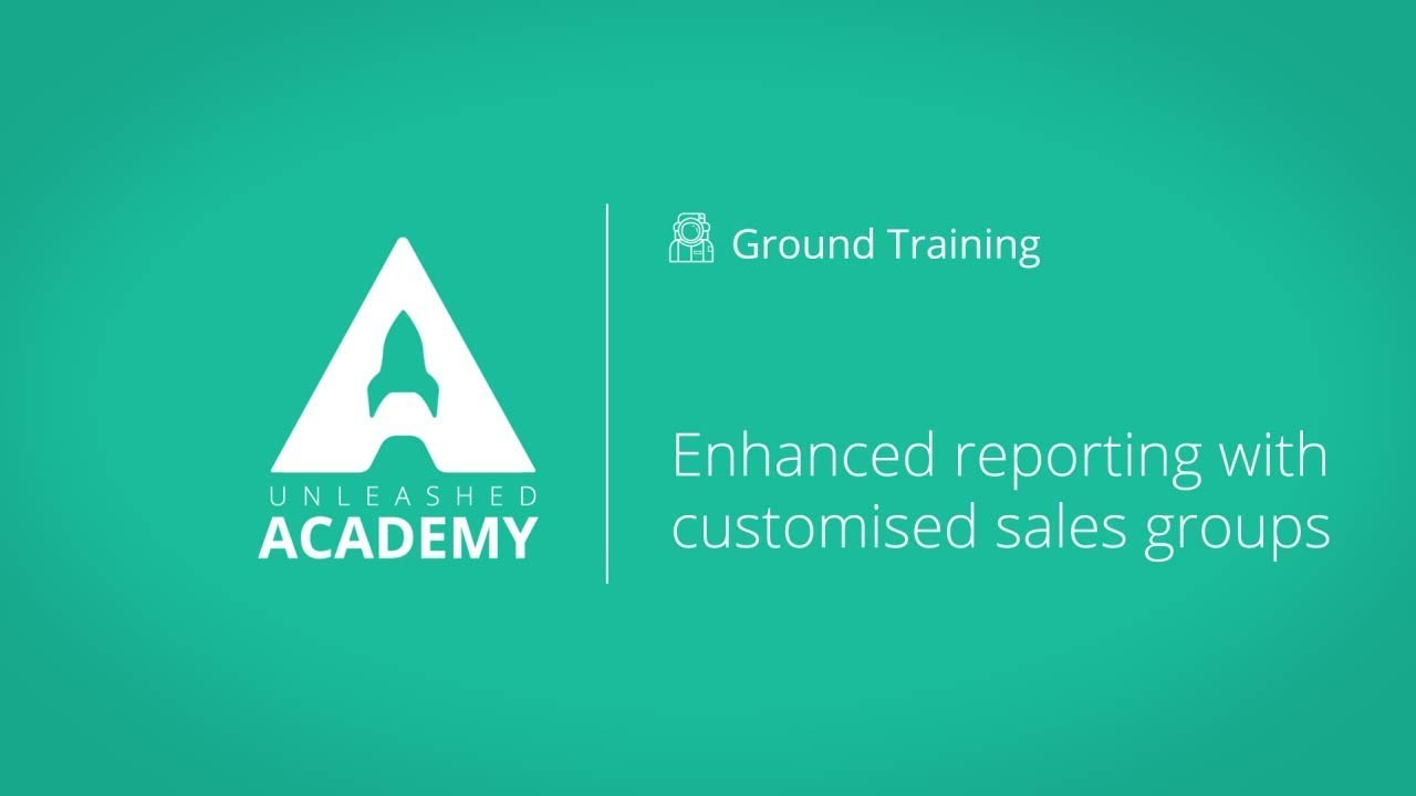 Enhanced reporting with customised sales groups YouTube thumbnail image