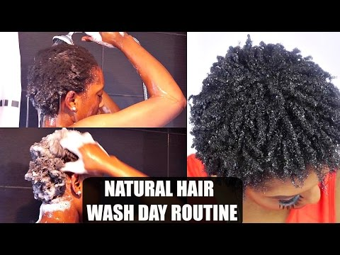 Natural Hair Wash Day Routine | Short 4C Hair