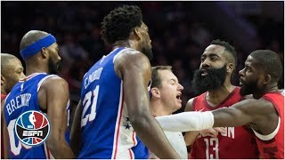 James Harden, Joel Embiid at center of Rockets-76ers drama | NBA Highlights