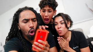 WE WENT THROUGH OUR SONS PHONE!! *You'll never guess whats in it*