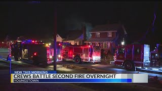 Crews battle fire at vacant house in Youngstown